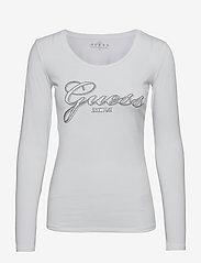 GUESS Jeans - LS CN RAISA TEE - långärmade toppar - pure white - 0
