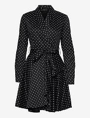 GUESS Jeans - SHEA DRESS - midiklänningar - small dots black - 0