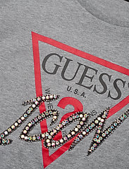 GUESS Jeans - SS CN ICON TEE - t-shirts - stone heather gre - 2