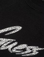 GUESS Jeans - DEBORAH RN SWEATER - gebreide t-shirts - jet black a996 - 2