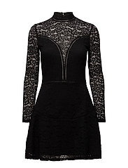 DESSA DRESS - JET BLACK W/ FROS