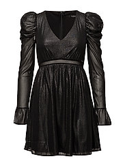 INDY DRESS - BLACK SILVER FOIL