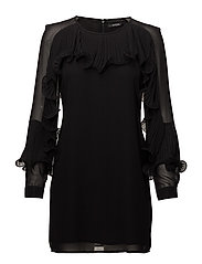 LARA DRESS - JET BLACK A996