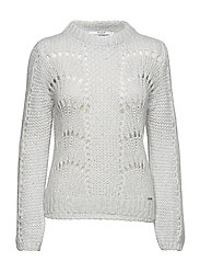 LS RN RITA SWEATER - LIGHT ICE GREY