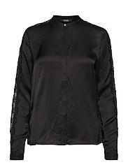 LS ORNELLA SHIRT - JET BLACK A996