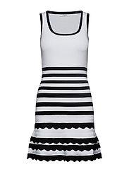 ANTOINETTE SWEATER DRESS - BLACK & WHITE STR