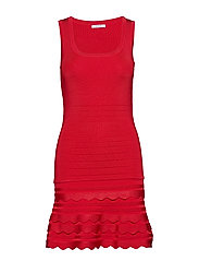 ANTOINETTE SWEATER DRESS - NECESSARY RED