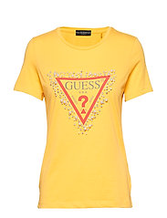 SS CN PEARLS TEE - SPICY YELLOW