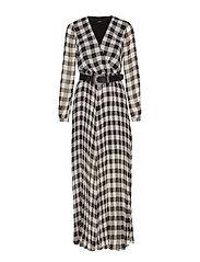 MAYA DRESS - WHITE/BLACK VICHY