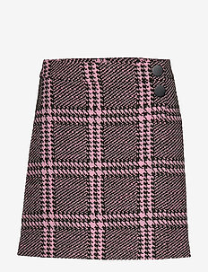 JULIA SKIRT - PINK GREEN MACRO