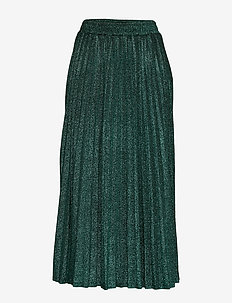MARION SKIRT - GREEN LUREX