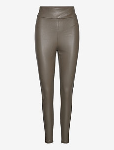 PRISCILLA LEGGINGS - skinnbukser - dark military gre