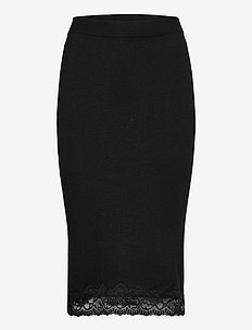 ALTHEA SKIRT SWEATER - midi - jet black a996