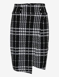 MADIHA SKIRT - midi - black white check