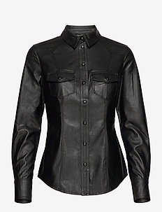 LS RAFFAELLA SHIRT - koszule z długimi rękawami - jet black a996