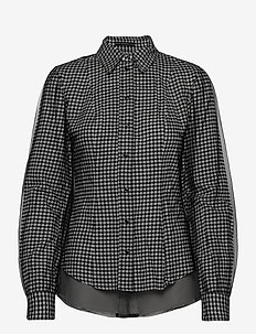 LS ANETTE SHIRT - langermede skjorter - black and white m