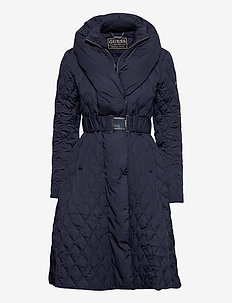WALLIS LONG DOWN JACKET - quilted jackets - blue jam