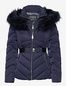 SARA SHORT DOWN JACKET - dun- & vadderade jackor - blue jam