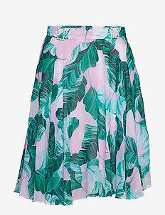 GRACE SKIRT - midi kjolar - hawaiian leaves p