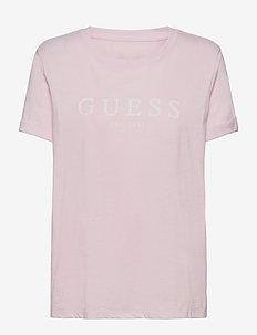 ES SS GUESS 1981 ROLL CUFF TEE - t-shirts - lavender hush