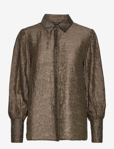 LS RAVEN BUTTON UP SHIRT - marškiniai ilgomis rankovėmis - asphalt green