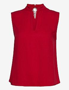 SL LORA TOP - blouses zonder mouwen - necessary red