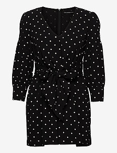 CILIA ROMPER - slå-om-kjoler - black and white s