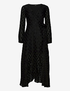 BERTHA DRESS - midi kjoler - jet black a996
