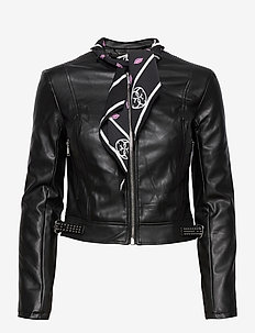 NEW JONE JACKET - leather jackets - jet black a996