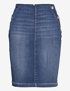 ULTRA MIDI SKIRT - jupes en jeans - pin mid