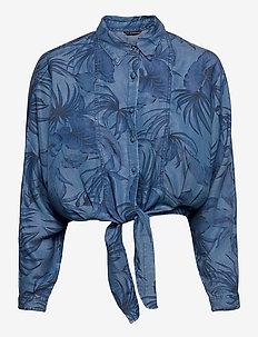 BETTY PIN UP L/S SHIRT - jeanshemden - othonna print
