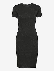 RHODA DRESS - stramme kjoler - jet black a996