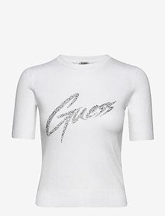 DEBORAH RN SWEATER - gebreide t-shirts - true white a000