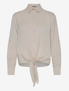 LS AMANDA SHIRT - långärmade skjortor - cream white