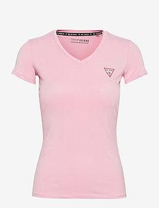 SS VN MINI TRIANGLE TEE - t-shirts - taffy light pink