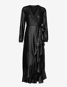 NEW BAJA DRESS - kveldskjoler - shiny dots black