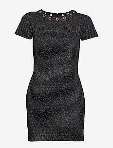JACQUELINE DRESS - BLACK & SILVER TW