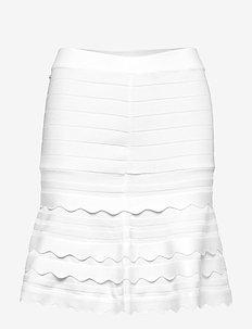 ALEXIA SWEATER SKIRT - TRUE WHITE A000