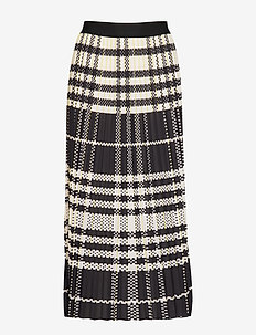 SAVINA SKIRT - spódnice długie - macro plaid yello