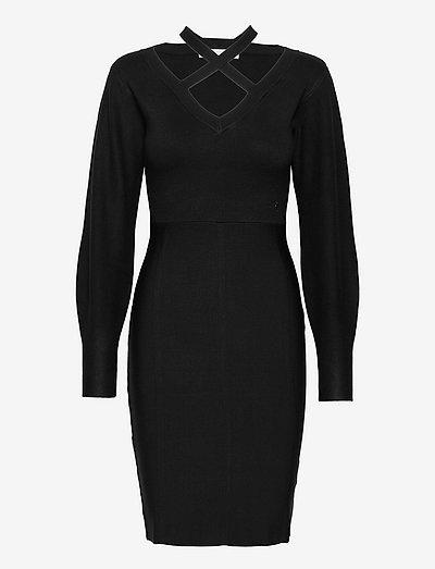 JANET DRESS SWTR - robes moulantes - jet black a996
