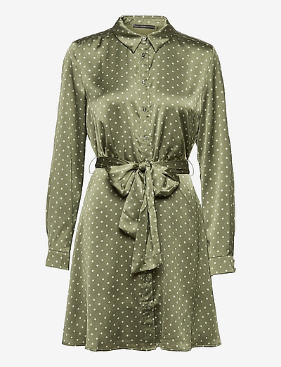 AGATA DRESS - cocktailklänningar - small dots olive