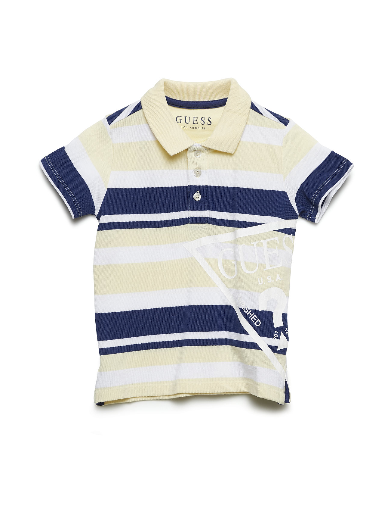 463baffd S Polo (Beige With Blue S) (32 €) - GUESS - | Boozt.com