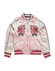 EVERSIBLE BOMBER JACKET - CHINTZ ROSE