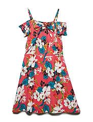 L DRESS - FLOWERS PRINT