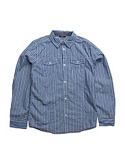 LS SHIRT - LIGHT BLUE STRIPE