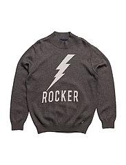 BASIC JACQUARD SWEATER - ROCKER FANTASY