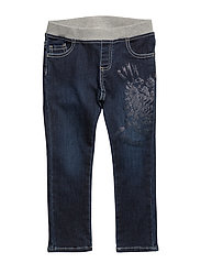 DENIM SLIM PANTS - DARK WASH