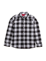 LS SHIRT - BLACK WHITE CHECK