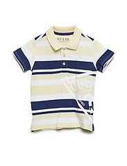 S POLO - BEIGE WITH BLUE S