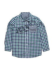 SS SHIRT - BLUE RED CHECK